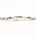 "Lustrous 925 Sterling Silver Rope 19"" Chain Jewelry"