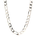 "Lustrous 925 Sterling Silver Figaro 22"" Chain Jewelry"