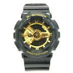 Mint Men's Classic Series Casio G-Shock GA-110GB Black & Gold Resin Band Watch