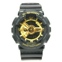 Mint Men's Classic Series Casio G-Shock GA-110GB Black & Gold Resin Band Watch