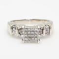 NEW Modern Estate 14k White Gold Princess Cut Diamond 0.75CTW Engagement Ring