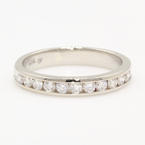 Classic 14K White Gold Natural Diamond 0.60CTW Wedding Anniversary Ring Band