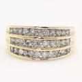Modern Estate 14K Yellow Gold Diamond Channel Set 0.99CTW Right Hand Ring Band