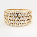 Modern Estate 14K Yellow Gold Diamond Channel Set 2.00CTW Right Hand Ring Band