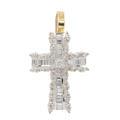 Modern Estate 18K White Gold Diamond 0.85CTW Cross Pendant