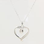 "NEW Modern Sterling Silver 925 Open Heart Pendant 19"" Cable Link Chain"