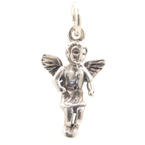 Vintage Estate Sterling Silver 925 25mm 3D  Angel  Charm