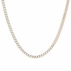 "NEW Modern 14K White Gold 20"" Franco Chain Lobster Claw Clasp"