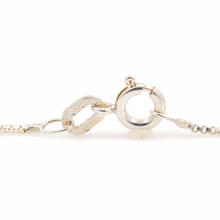 """NEW Modern 925 Sterling Silver 18"""" Box Chain Spring Ring Clasp Jewelry"""