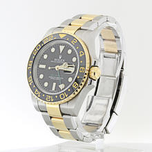 Authentic Rolex GMT Master ll 18K  Yellow Gold Stainless Steel Mens Watch