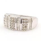 Divine Ladies 10K White Gold Diamond 1.00CTW Anniversary Ring Band Jewelry