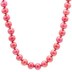 "Estate 14K Yellow Gold Freshwater Cranberry Pearl Strand 18"" Necklace Jewelry"