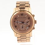 Michael Kors Runway Rose Gold Stainless Steel Chronograph MK5128 Women Watch