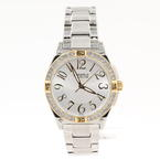 Ladies Caravelle By Bulova 45L132 Analog Watch Silver-Tone Steel Bracelet