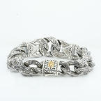 Authentic Scott Kay Sterling Silver Mens Guardian Bracelet