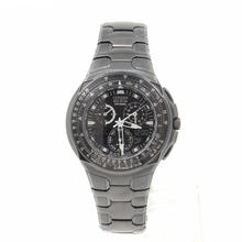 CITIZEN BLACK EAGLE ECO-DRIVE SKYHAWK WORLD TIME JR3155-03E MENS CHRONO WATCH