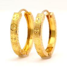 Classic Estate Ladies 22K Yellow Gold 20MM Hoop Snap Back Earrings