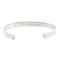 "Beautiful Cuff Bangle""Sisters Forever""Sterling Silver 925"