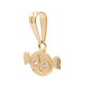 NEW 14K Yellow Gold High Polished 15mm Powerpuff Girl Bubble Head Pendant