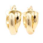 Classic Estate Ladies 14K Yellow Gold Huggie Hoop Earrings