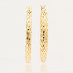 NEW Classic 14K Yellow Gold Hollow Hoop Saddle Back Earrings