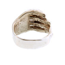 Sterling Silver 925 Mens Unique Hand Ring Finger Design  Ring