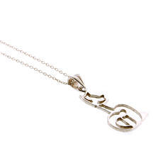 Stylish Modern Ladies Silver 925 Cat Pendant & Cable Link Chain - 18 Inches - NEW