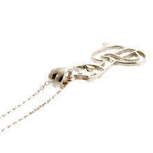 "NEW Modern Silver 925 Cat Pendant 18"" Cable Link Chain"