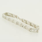 Vintage Estate 925 Sterling Silver Greek Key 7 Inch Bracelet