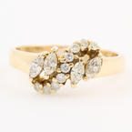 Modern Estate 14K Yellow Gold Marquise Diamond 0.65CTW Right Hand Ring