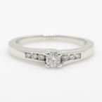 NEW Classic Womens 10K White Gold Diamond Solitaire 0.30CTW Engagement Ring