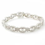 Classic Ladies Vintage Estate 14K White Gold Diamond 2.25CTW 7 Inch Bracelet