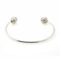 "Modern Estate 925 Sterling Silver High Polished 6"" Open Cuff Bangle"