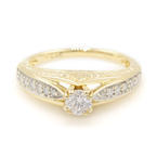 Classic Womens Vintage 14K Yellow Gold Diamond 0.50CTW Engagement Ring