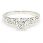 NEW Classic 18K White Gold Brilliant Diamond 1.30CTW Engagement Wedding Ring