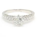 NEW Classic 18K White Gold Brilliant Diamond 1.30CTW Engagement Wedding Ring