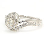 Vintage Estate 14K White Gold Diamond 0.50CTW Right Hand Ring