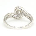Ladies Vintage Estate 14K White Gold Diamond Bypass Cocktail Ring - 0.50CTW
