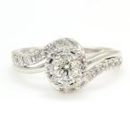 Vintage Classic Estate 14K White Gold Exquisite Ladies Diamond Ring - 0.50CTW