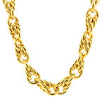 "Authentic Tiffany&Co. 18K 750 Yellow Gold Estate 16"" Interlocking Necklace"