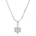 "Classic Estate 14K White Gold Diamond 0.75CTW Rosita Pendant 18"" 18K White Gold Chain"