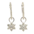 NEW Modern 14K White Gold Diamond 1.25CTW Rosita Huggie Earrings