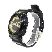 Casio G-Shock GD-100GB Digital World Time Resin Band Sport Watch Black & Gold