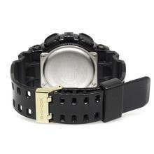Casio G-Shock GD-100GB Digital World Time Resin Band Sport Watch Black & Gold