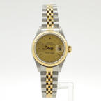 Ladies Rolex Oyster Perpetual DateJust 79173 18kt Gold S/S Two Tone Champane Dial Watch