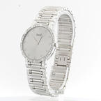 Authentic Piaget Mecanique 18K White Gold Watch Original Diamond Bezel and Dail