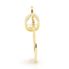 Modern 14K Yellow Gold High Polished 25mm Anchor Pendant