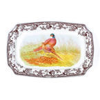 Spode Woodland Pheasant Rectangular Serving Platter 17.5""