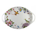 "Portmeirion Dinnerware Botanic Hummingbird Handheld 18"" Platter"