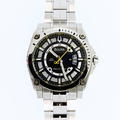 Men's Bulova 96B131 Precisionist Black Dial Stainless Steel Band Watch